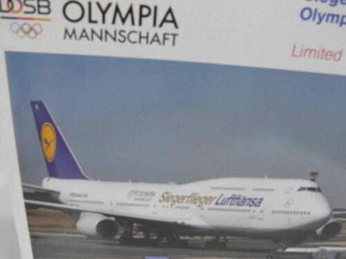 1//200 Herpa LUFTHANSA BOEING 747-8 vincitore aviatori OLYMPIA 16 prezzo speciale 558402