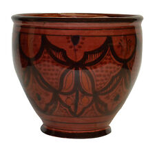 Flower Pot Moroccan Spanish Garden Drain Hole Ceramic Terracotta