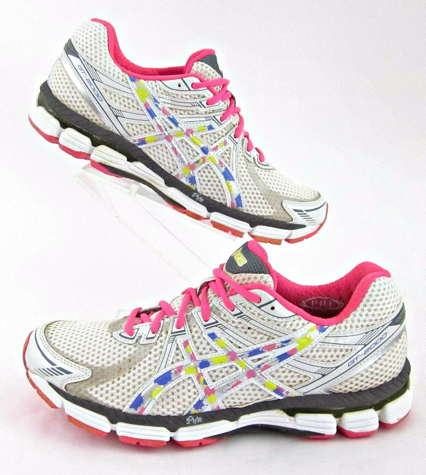 Asics GT-2000 Womens Running shoes White Pink Multi  color Sz 10