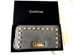edf1da0dfa bebe Wallet Grey Jane Zip Around NWT & Box! 646726950917   eBay