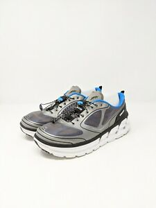 Hoka-One-One-M-Conquest-Athletic-Shoes-Men-039-s-Size-10-5-Gray-amp-Blue