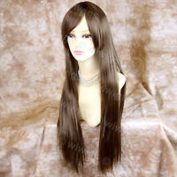 Wiwigs Long Light Brown Straight Skin Top Heat Resistant Ladies Wig