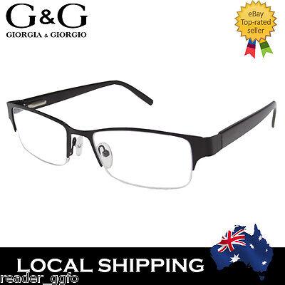 NEW G&G Cool Mens Reading Glasses Black +3.5 ONLY