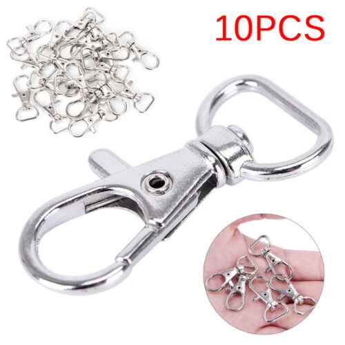 10PCS Lobster Swivel Clasps Clips Bag Key Ring Hook Jewelry Findings Key chainHC