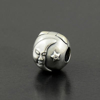 Authentic Genuine Pandora Silver Magic Sky Clip Clear Zirconia - 791208CZ