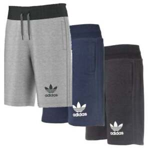 une grande variété de modèles 50% de réduction collection de remise Details about Mens New Adidas Originals 3 Stripe Cotton Shorts Pants Casual  Summer - Navy Grey