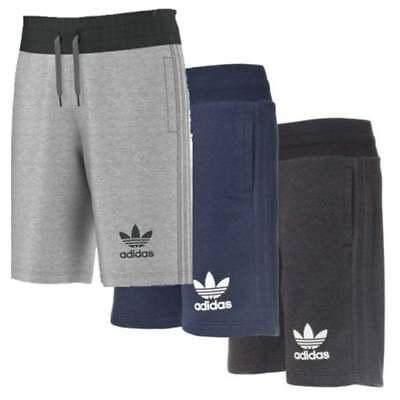 Mens New Adidas Originals 3 Stripe Cotton Shorts Pants Casual Summer Navy Grey | eBay