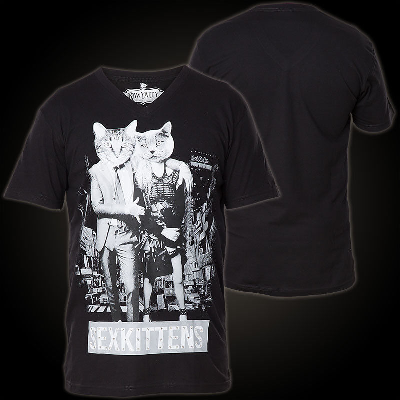 RAWYALTY T-Shirt Sex Kittens Schwarz T-Shirts Herren  Rawyalty Sex