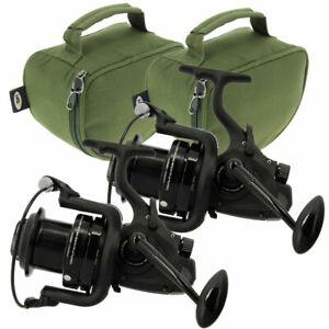2-x-Dynamic-7000-10-BB-Big-Pit-Large-Carp-Fishing-Bait-Reel-Runner-Cases