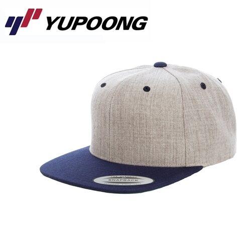 Yupoong 2 Tone Snapback Cap Heather Gris navyblau
