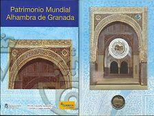 ESPAÑA CORREOS 2 EUROS PATRIMONIO MUNDIAL GRANADA 2011 MONEDA + SELLOS