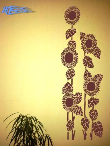 Mural deco fleurs tournesol wandtatoo murale salon