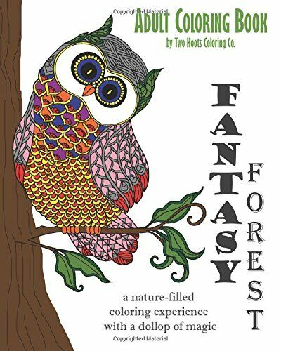 Coloring Books For Adults GrownUps Owls Dover Designs Creative Relieving Stress