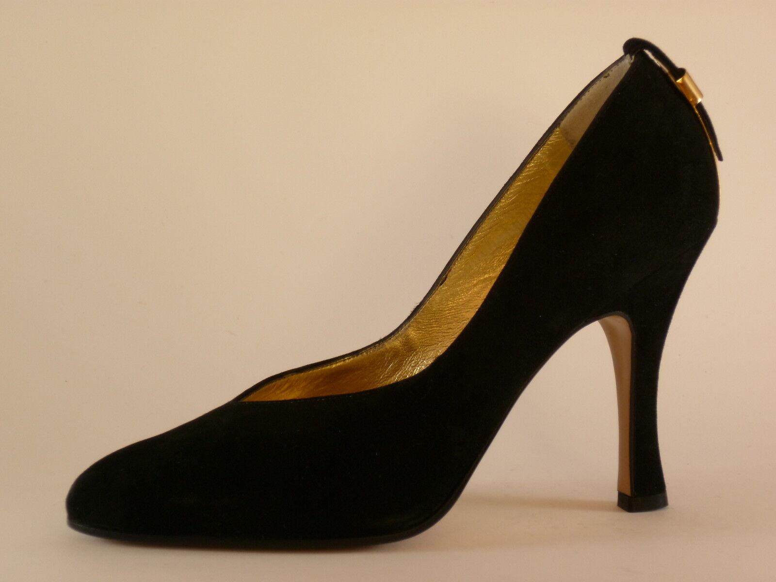 Cusano Ladies shoes 36 40 Velour Black Court shoes New