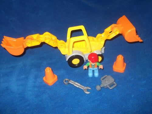 Lego Duplo Ville Radlader Bagger Baustelle Steinbruch aus 10811 Gelb Orange