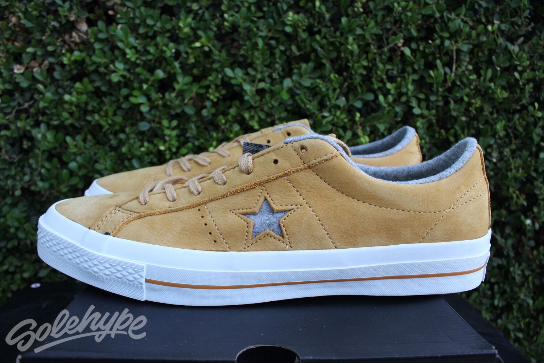 CONVERSE ONE STAR NUBUCK OX SZ SZ SZ 8 SOBA giallo ASH grigio bianca 153718C a74888