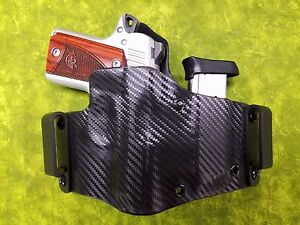 Details about IWB HOLSTER WITH EXTRA MAG BLACK FITS Kimber Micro 9 9mm  (WITH CRIMSON TRACE)