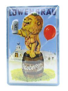 Blechschild-Loewenbraeu-Bier-Beer-Metall-Schild-30cm-Nostalgie-Metal-Shield-Neu