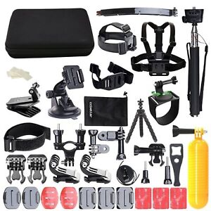 50-In-1 Action Camera Accessories Kit For GoPro Hero Video Cam Mount Tripod Set 808018121768