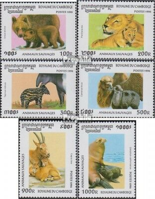Never Hinged 1996 Wildlife Unmounted Mint complete Issue Cambodia 1638-1643