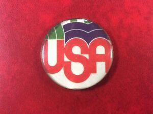 SCARCE-Badge-Pin-Button-USA-PRO-AMERICAN-PROPAGANDA-IN-USSR-RUSSIA-Prohibited