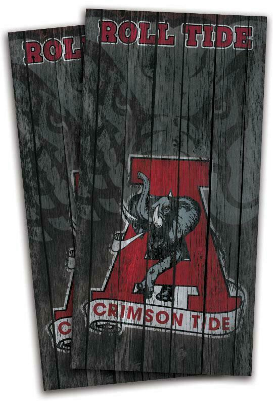 Alabama Crimson Tide Woodgrain  Cornhole Bag Toss Wrap Set  wholesape cheap