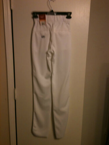 Rawlings YBPU350 Youth Baseball Pant Un-hemmed Manny Style White//Navy Piping
