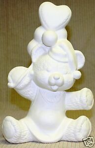 Ceramic-Bisque-Bear-with-Balloons-Glenview-Mold-274-U-Paint-Ready-To-Paint