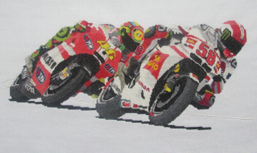 2006 Simoncelli superbike cross stitch kit//chart 2009 2004 Valentino Rossi