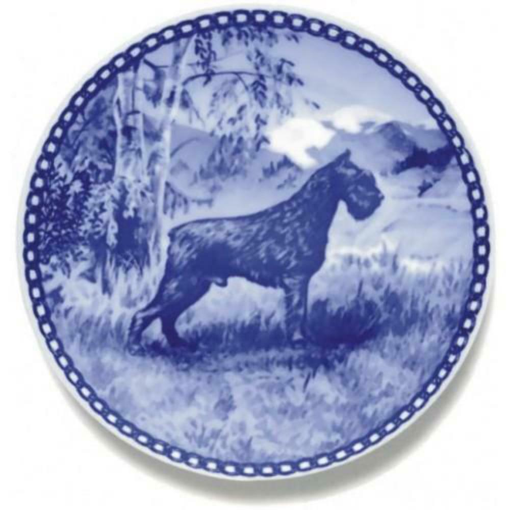 Giant Schnauzer  Dog Plate made in Denmark from the finest European Porcelain