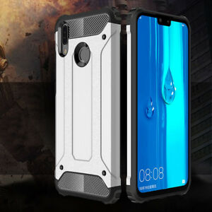 detailed look 62b74 9f5b6 Details about For Huawei Y9 2019 Case Silicone Protective Hybrid Shockproof  Hard Armor Cover