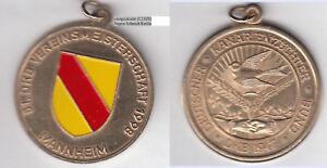 Mannheim-Kanarienzucht-Vogel-Bird-Wappen-Baden-Goldbronzemedaille-teillackiert