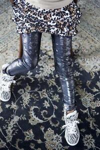 Bonnie-Doon-034-Silver-Dust-footless-034-leggings-talla-116-122-negro-nuevo