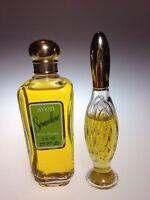 Vintage Avon Minuette Brocade 3/4 Full &  Somewhere 2 OZ Cologne Fragrance Lot