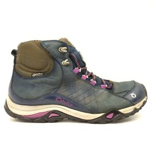 6a172b3b25f Oboz Womens Huckleberry Blue Sapphire Mid BDry Waterproof Leather ...