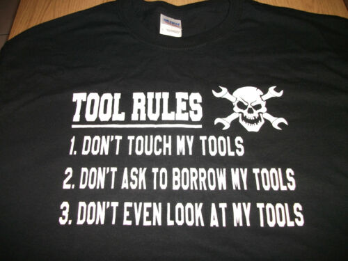 TOOL RULES T-SHIRT MECHANICS DIY GIFT all sizes and colours BRAND NEW