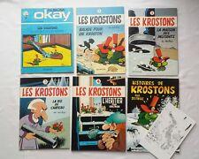 Lot BD - Krostons 0 1 2 3 4 + Histoires de Krostons TL TBE / EO / DELIEGE / RARE