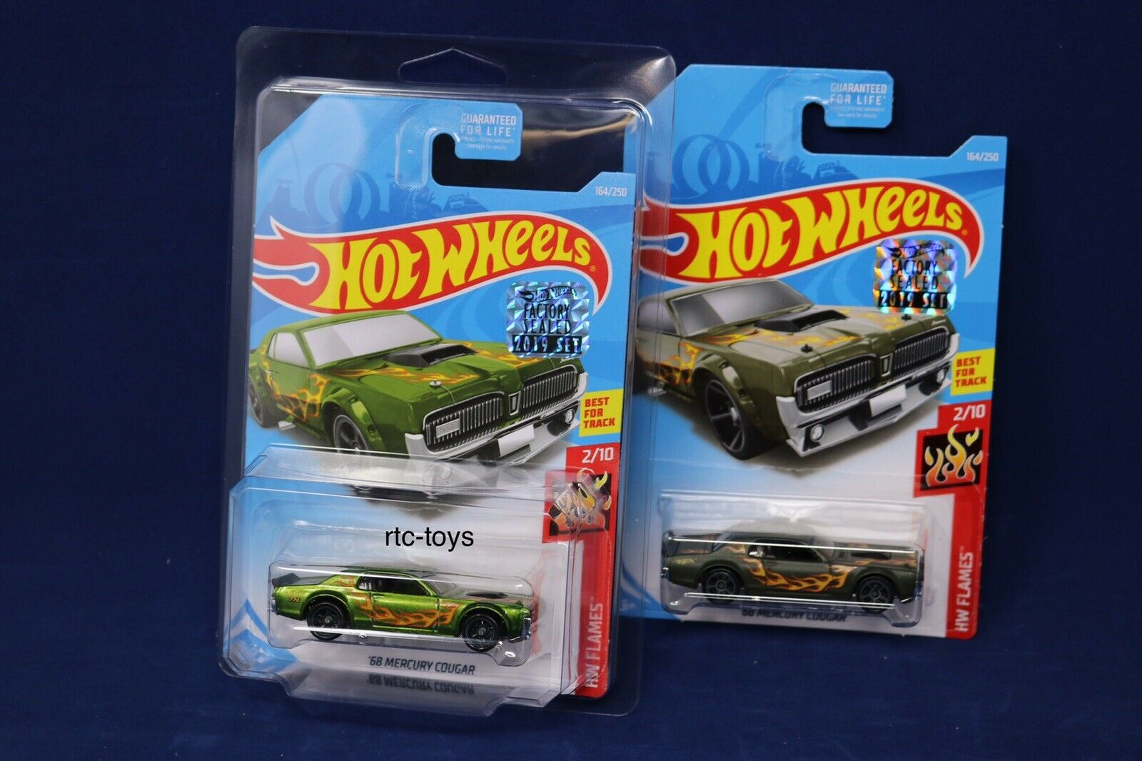 Hot Wheels Super Treasure Hunt '68 Mercury Cougar & Basic W Predech 2019 In Hand