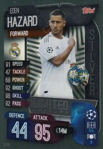Match Attax 19//20 RARE Eden Hazard Silver Limited Edition LE3S-Comme neuf