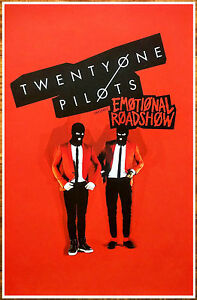 TWENTY-ONE-PILOTS-Emotional-Roadshow-Tour-2016-Ltd-Ed-RARE-Poster-Blurryface-21P