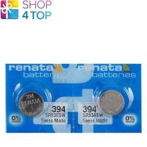 2 RENATA 394 SR936SW BATTERIES SILVER 1.55V WATCH SWISS MADE EXP 2022 NEW