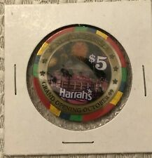 В HARRAH'S CASINO CHIP $5 - GRAND OPENING 1999 - NEW ORLEANS, LAВ