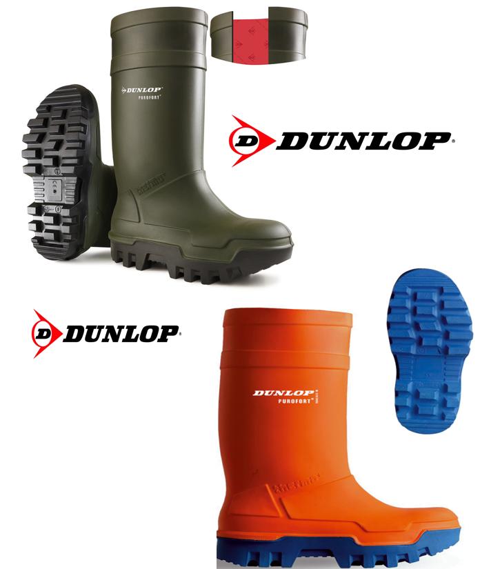 Dunlop Purofort Thermo  sicurezza Stivali in Arancioneverde. l'isolamento a 50 °
