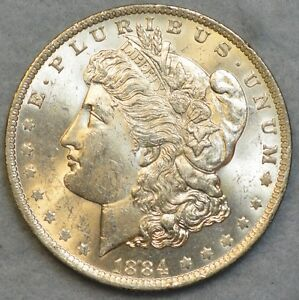 1884-O-New-Orleans-Mint-Silver-Morgan-Dollar-UNC-BU-CHOICE-FREE-Shipping-36040