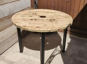 Extra Large Industrial Wooden Cable Reel Drum Round Table Ebay