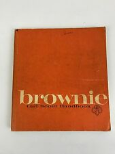 Old Vintage 1963 BROWNIE GIRL SCOUT HANDBOOK Guide Manual Book GSA 1975 Printing