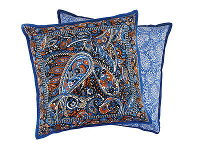 The Wanderer Cushion in Royal Blue & Mandarin