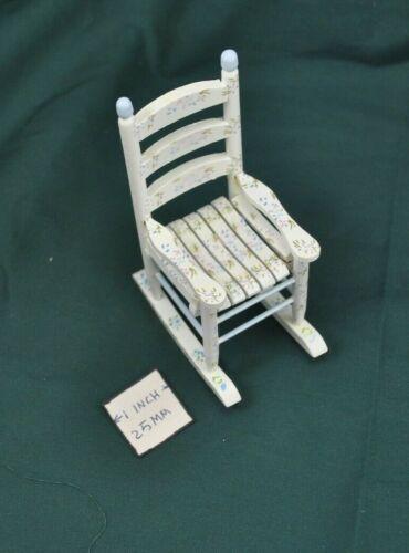 EMWF619   miniature dollhouse furniture wooden rocker Rocking Chair Painted