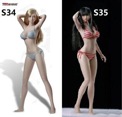 1//6 Asian Beauty M Bust Female Body Figure for Phicen TBLeague Seamless Bronze