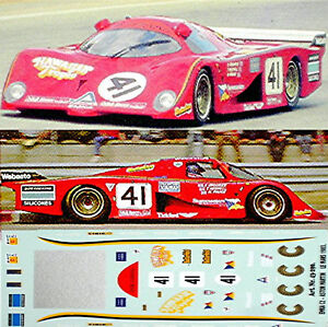 Le Mans Start Nummern LeMans Start Numbers 1:43 Decal Abziehbild